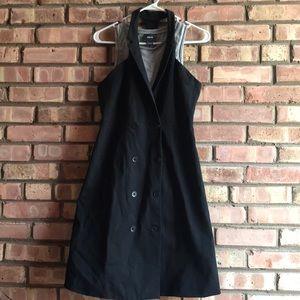 Anthropologie Maeve black blazer dress